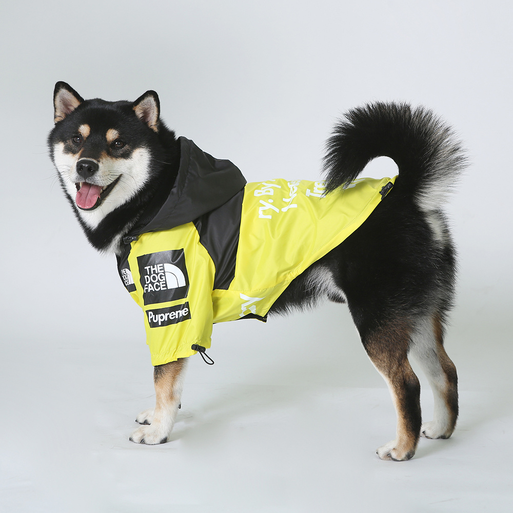 Комнатная собака Дождевик куртка одежда с защитой от ветра кошка собака куртка Модные Водонепроницаемый Светоотражающий ошейник для животных костюмы мелких домашних животных большой куртка для домашних животных-4