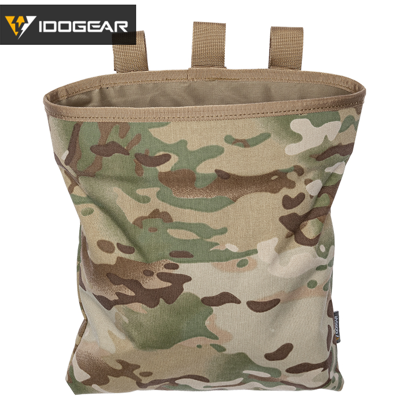 IDOGEAR MOLLE Magazine Dump Pouch Tactical Mag Drop Pouch Recycling Bag Storage Bag 3550