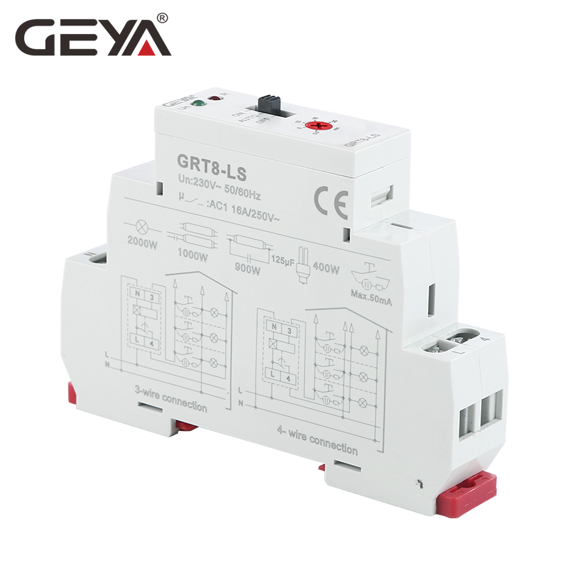 Image 3 - Free Shipping GEYA GRT8 LS Din rail Staircase Switch Lighting Timer Switch 230VAC 16A 0.5 20mins Delay off Relay Light SwitchTimers   -