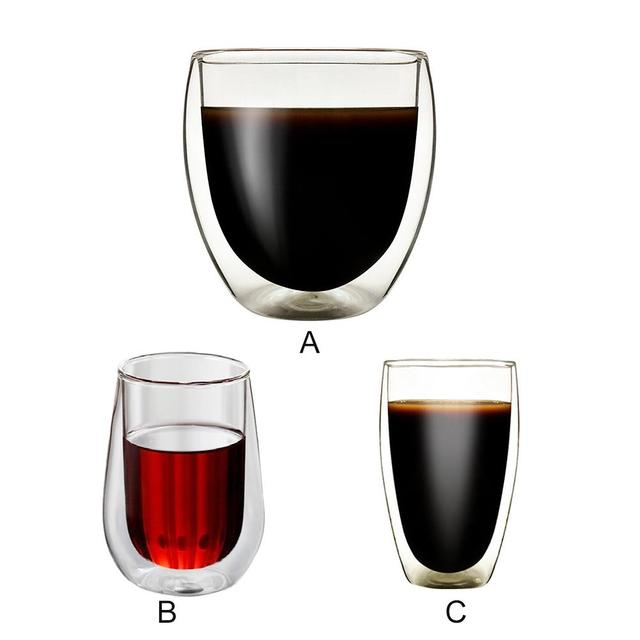 Double Layers Glass Mug Borosilicate Heat Resistant Office cup Home Table Cups Heat Insulation Tea Milk Coffee Mugs