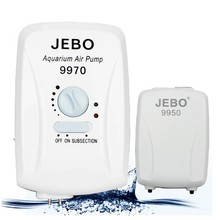 JEBO Aquarium Air Pump 2W 3.5W Oxygen AC DC 110-220V Fish Tank Compressor With Bubble Stone And Trachea