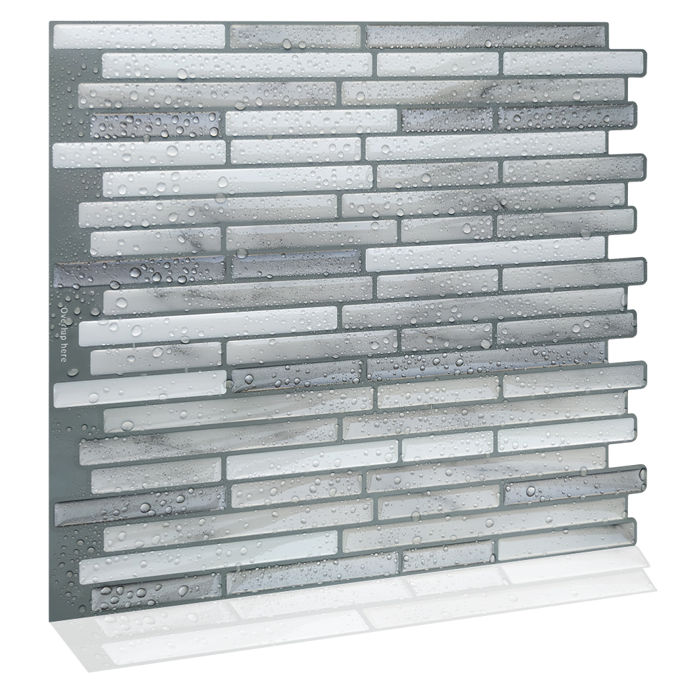 Best Price 38ea Mosaic Self Adhesive Waterproof Kitchen Backsplash Vinyl Wallpaper Peel And Stick Wall Tiles Cicig Co