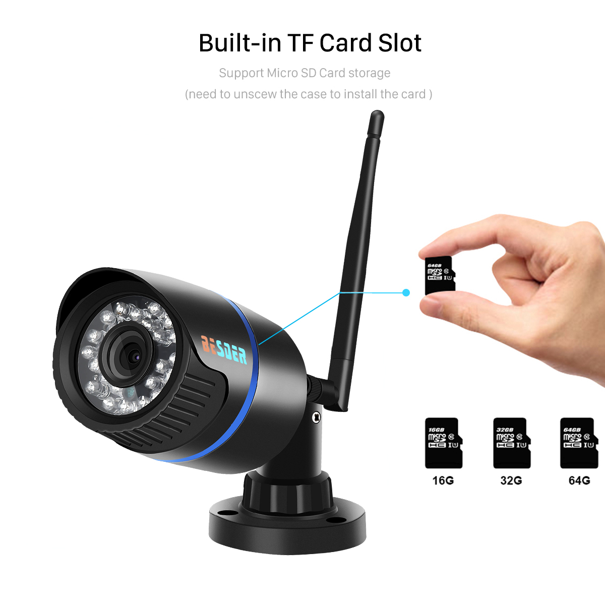 Ha1b7a952968c49a784960a535024fb28H BESDER iCsee Audio Security IP Camera 1080P Wireless Wired ONVIF CCTV Surveillance Outdoor Wifi Camera With SD Card Slot Max 64G