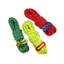 3pcs Reflective Wind Rope Outdoor Sun Shelter Awning Camping Nightlight Windproof Noose Tent Rope for Hiking Fishing Hunting Sur(China)