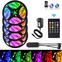 16 Million Colors LED Strip 12V 7.5M/12.5M/17.5M/30M TV Backlight 5050 LED Lighting for Stair Garden Decoration White Neon Strip