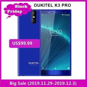 """OUKITEL K3 Pro 4GB + 64GB Smartphone Android 9,0 pastel MT6763 Octa Core 5,5 """"FHD 6000mAh cara de 9 V/2A Flash de carga del teléfono móvil"""
