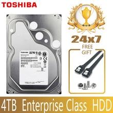 """توشيبا 4 تيرا بايت فئة المؤسسة القرص الصلب HDD HD الداخلية SATA III 6 جيجابايت/ثانية 7200RPM 128M 3.5 """"القرص الصلب القرص الصلب 24/7 24X7 Gamin"""