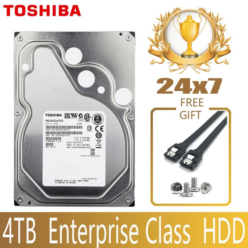 US $106.99 30% СКИДКА|TOSHIBA 4 ТБ корпоративный класс жесткий диск HDD HD встроенный SATA III 6 ГБ/сек. 7200 об/мин 128M 3,5