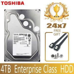"Image 1 - TOSHIBA 4TB Enterprise Class ฮาร์ดดิสก์ไดรฟ์ HDD HD ภายใน SATA III 6 กิกะไบต์/วินาที 7200RPM 128M 3.5 ""Harddisk ฮาร์ดไดรฟ์ 24/7 24X7 Gamin"