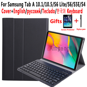 Touchpad Keyboard Case Voor Samsung Galaxy Tab Een 10.1 2019 A6 2016 10.5 2018 Case Toetsenbord Voor Samsung Tab S6 lite S5E S4 10.5(China)