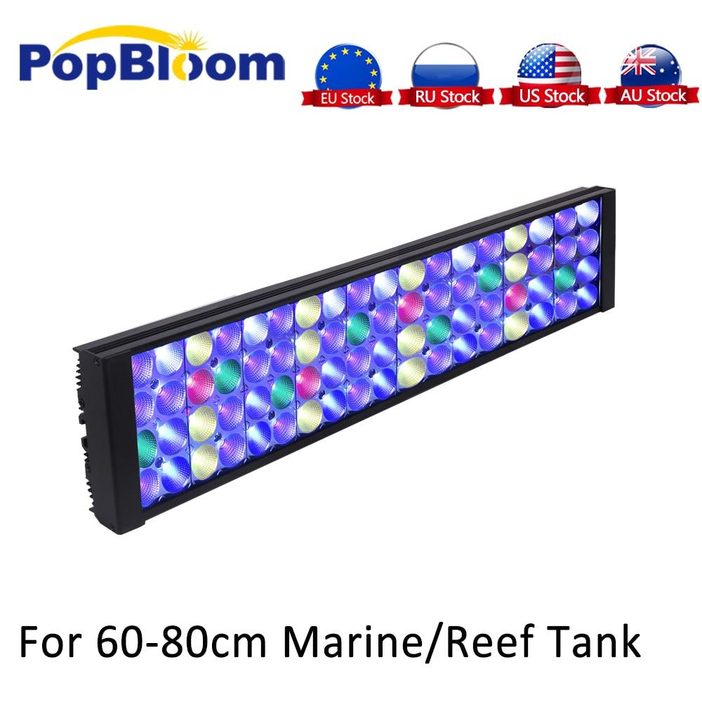 PopBloom Aquarium led light for aquarium reef led aquarium lamp full spectrum reef aquarium light led coral reef Tank Turing50