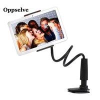 Oppselve 침대 탁상용 전화 홀더 mobilephones 정제를위한 가동 가능한 팔 금속 지원 침실 브래킷 보편적 인 대 테이블 클립