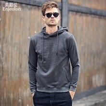 Enjeolon Brand Winter Hoodies Men Solid Casual Hoodies Sweatshirt Men Quality Cotton Pullover Sweatshirts Men Chaquetas WY104