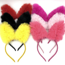 New Fashion Cute Children Rabbit Ears Headband Funny Plush Hair Band For Festival Soft Lovely Hairband