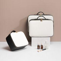 Кожаная косметичка для Clapboard, профессиональный чехол для макияжа, вместительная сумка для хранения, дорожная косметичка для туалетных прин...