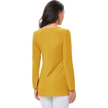 YTL Ladies Golden Diamond Waist Decoration Slim Tunic Tops Casual Party Long Sleeve Women Elegant Lace Floral Blouse Shirt H025G 6