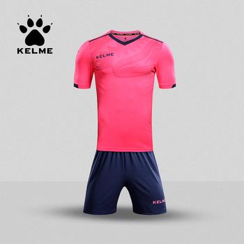 KELME Kid koszulka piłkarska strój piłkarski lato dostosowane garnitur Shark szkolenia Uniform dla drużyny sportowej dziecko KCC160027 tanie i dobre opinie Dobrze pasuje do rozmiaru wybierz swój normalny rozmiar CN (pochodzenie) Poliester Spandex SHORT
