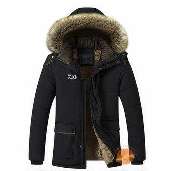 2019 Autumn Winter New Daiwa Men's Fishing Clothing Casual Fashion Plus Velvet Fishing Jacket Waterproof Outdoor Fishing Clothes