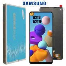 10 sztuk/partia oryginalny LCD do Samsung Galaxy A21s A217 LCD ekran dotykowy Digitizer LCD do Samsung SM-A217F/DS wymiana wyświetlacza