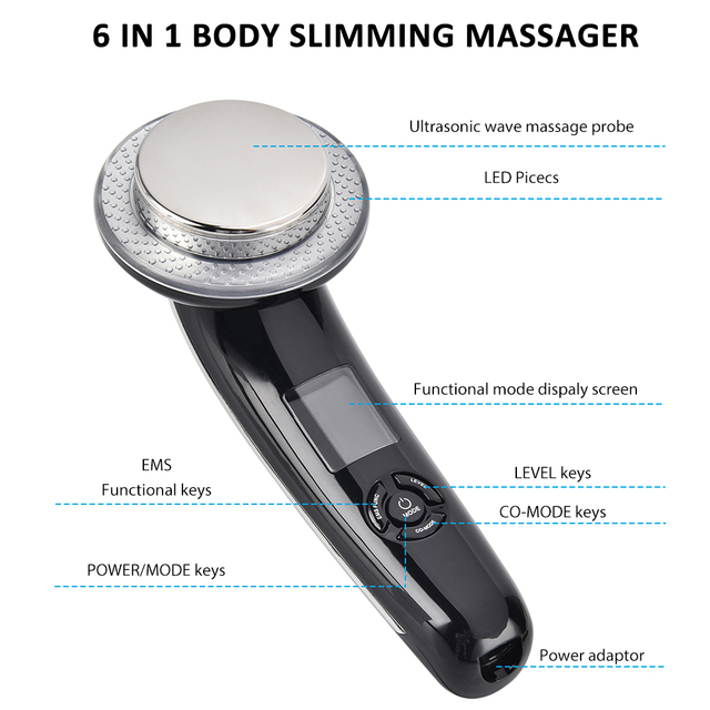Ultrasonic Body Slimming Massager Ultrasonic Wave EMS Vibration Infrared Therapy Fat Burner Device Skin Tightening Facial Care 4