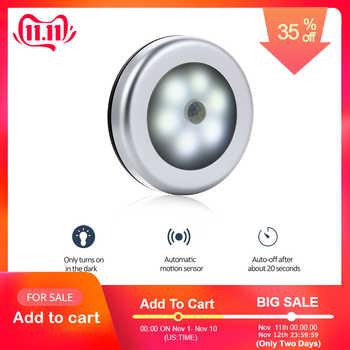 SOLLED Sliver Infrared PIR Motion Sensor 6 Led Night Light Magnetic Wireless Detector Light Wall Lamp Light Auto On/Off Closet - DISCOUNT ITEM  32% OFF Lights & Lighting