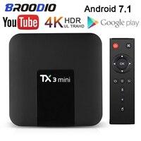 TX3 Mini Smart TV Box Android 7.1 torrone S905W Quad Core 8G/16G Kodi Media Player 4K HD Dual WiFi TV Streamer ricevitore Top Box