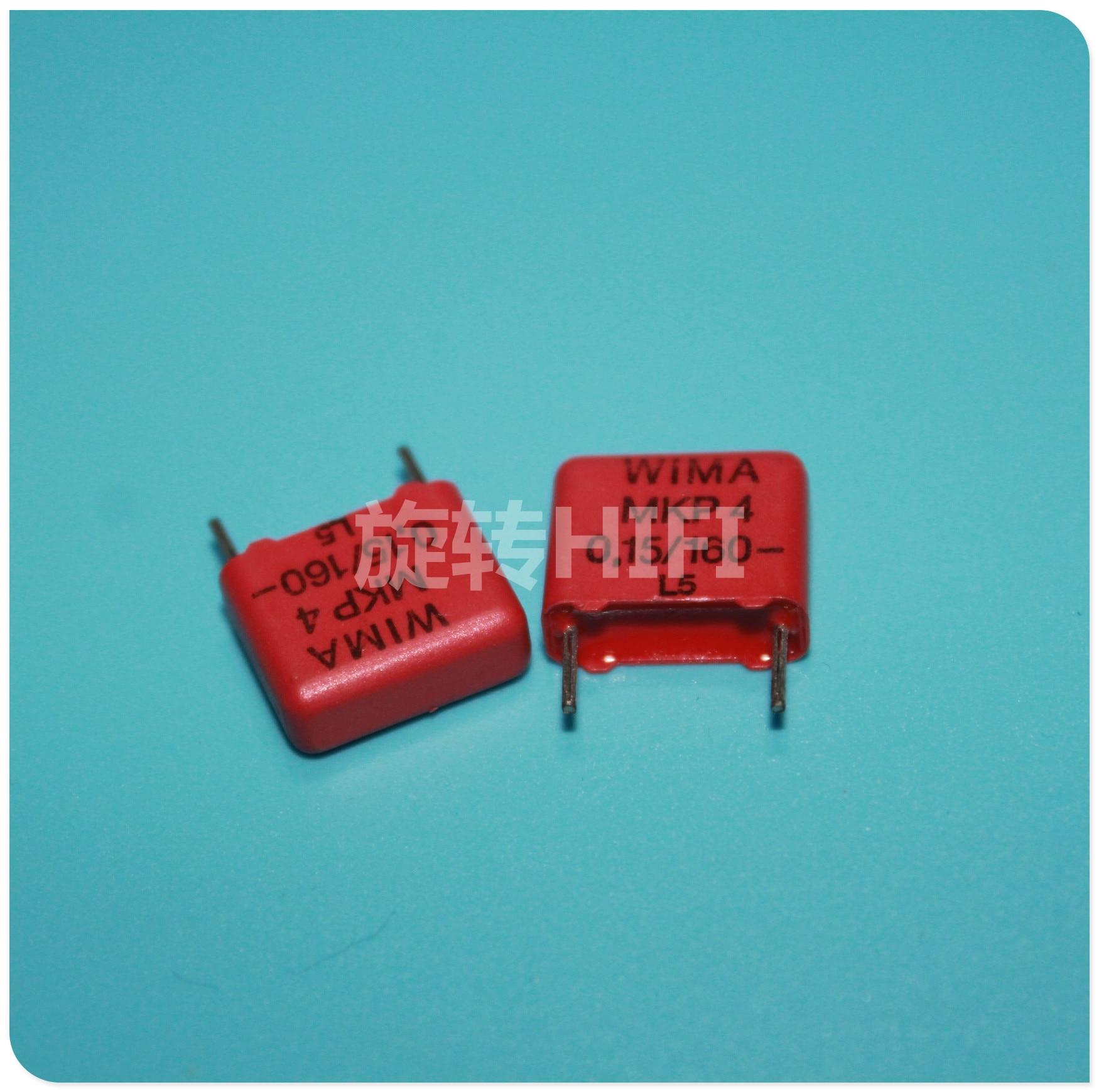 10PCS RED WIMA MKP4 0.15UF 160V PCM10 Original New MKP-4 154/160V P15mm Audio 154 Hot Sale 0.15uf/160v 150NF