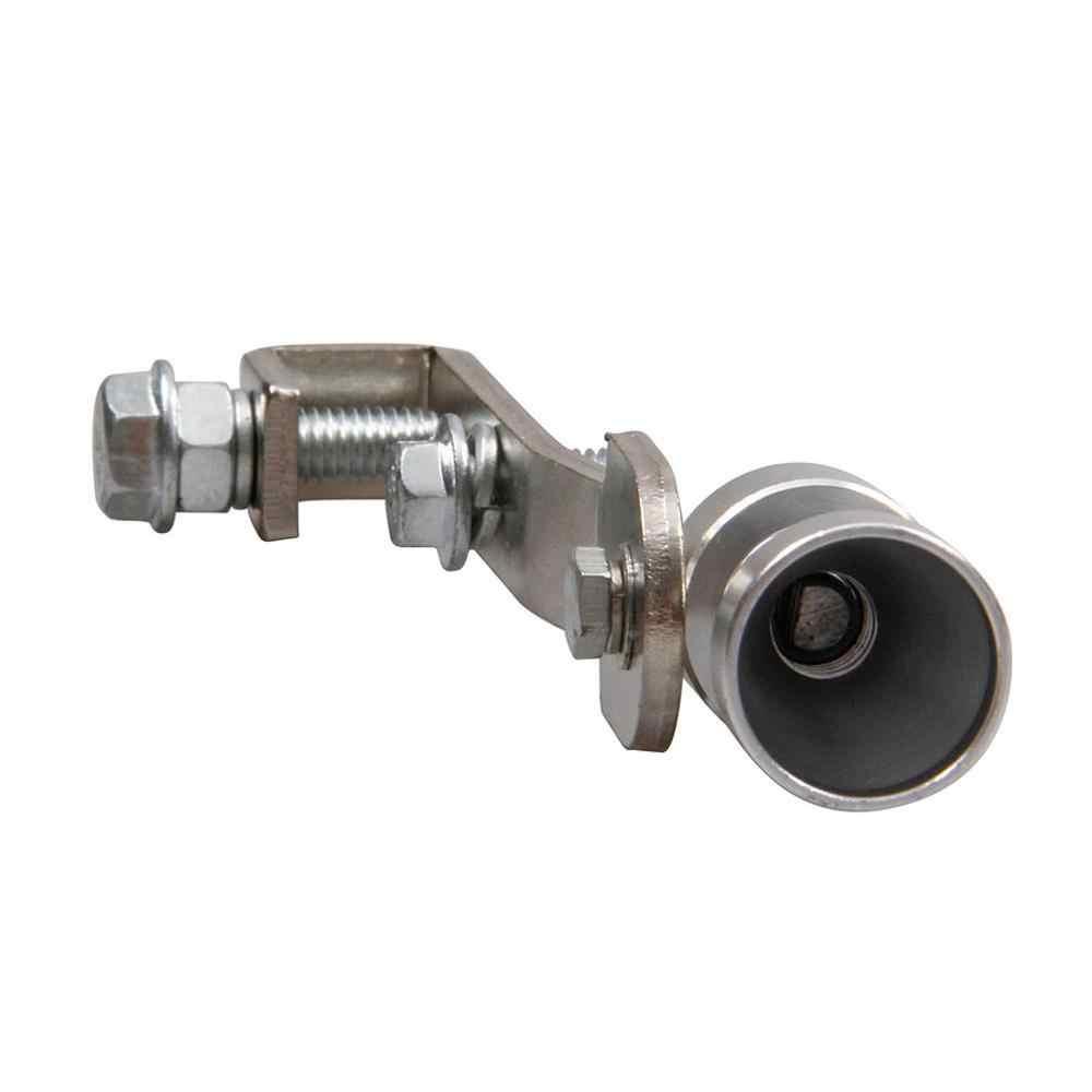 44-55 ミリメートル車の排気管マフラーテールパイプ高品質ユニバーサルステンレス鋼排気管先端挿入シルバー