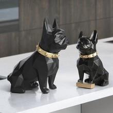Estatura de perro para el hogar, manualidades decorativas, escultura de animais, resine, arte moderna, adornos para el hogar, acce