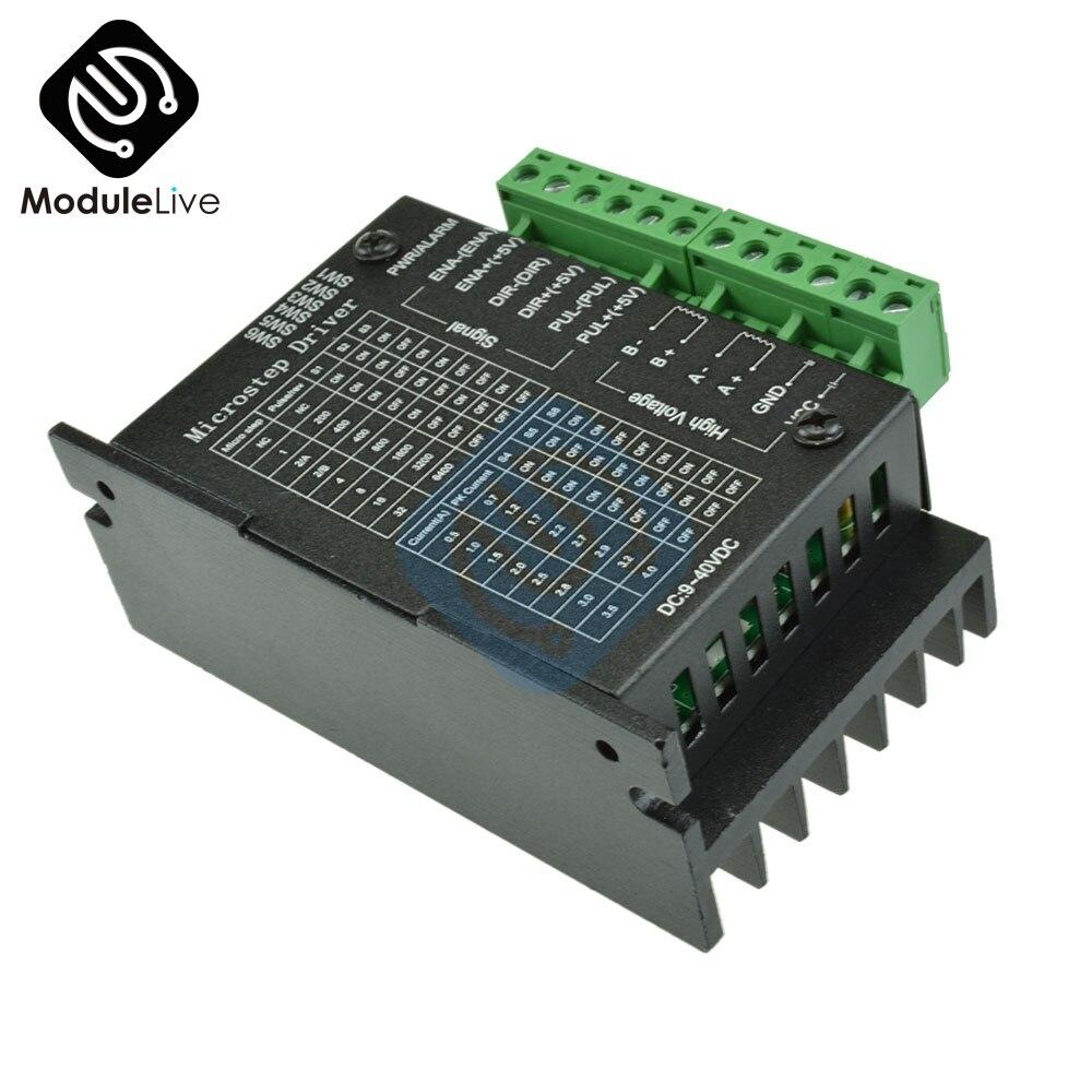 Tb6600 controlador de driver de motor deslizante 4a 9 42 42 v ttl 16 micro-passo cnc 1 eixo novo