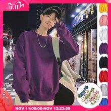 Privathinker גברים Harajuku נים חולצות רחב מימדים 2020 גברים נשים Streetwear שחור הסווטשרט זכר Hiphop חורף בסיסי נים
