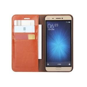 Image 3 - 360 Natural Genuine Leather Skin Flip Wallet Book Phone Case Cover On For Xiaomi Mi 5 6 Mi5 Mi6 Pro Prime 3/4 32/64 GB Xiomi