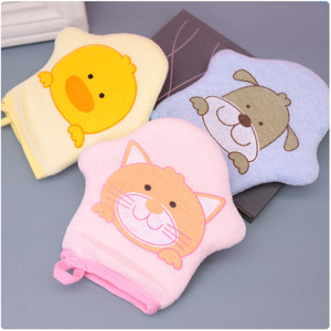 3 Colors Cat Soft Cotton Baby Bath Shower Brush Cute Animal Modeling Sponge Powder Rubbing Towel Ball for Baby Children