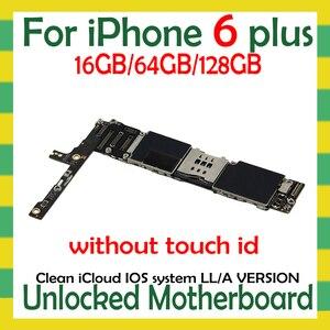 Image 2 - Fabrycznie odblokowany dla iphone 6 Plus 5.5 cala płyta główna z/bez Touch ID, oryginalny dla iphone 6 Plus Logic board z bezpłatnym iCloud