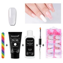 Ibcccndc Poly Gel Lak Set Nagellak Polygel Kit Quick Builder Extension Hard Gel Camouflage Uv Led Lak Borstel Nail tips(China)