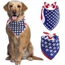 Flags-Scarfs Dog Bandanas Small Pets-Bib Dogs Large American for Big Medium Usa-Flag
