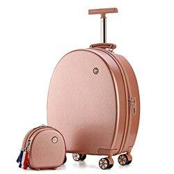 20''Rolling gepäck set kinder koffer mit räder kind trolley tasche mädchen der reise kabine tragen auf gepäck cartoon Nette box nette