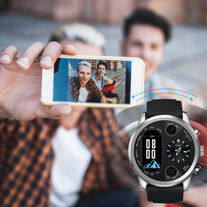 Image 4 - LEMFO Smart นาฬิกาธุรกิจชาย Dual Time Zone Heart Rate Monitor Fitness Tracker นาฬิกากันน้ำสำหรับ Android IOS
