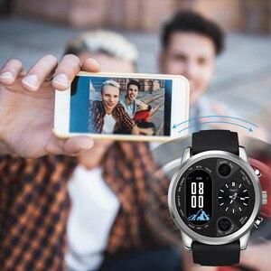 Image 4 - LEMFO חכם שעון עסקי גברים כפול זמן תצוגת אזור קצב לב צג כושר גשש עמיד למים שעון עבור אנדרואיד IOS