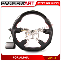 For toyoota for alpha LED Carbon Fiber Steering Wheel race display LCD screen gua ge meter LED racing steering wheel 2013 2016
