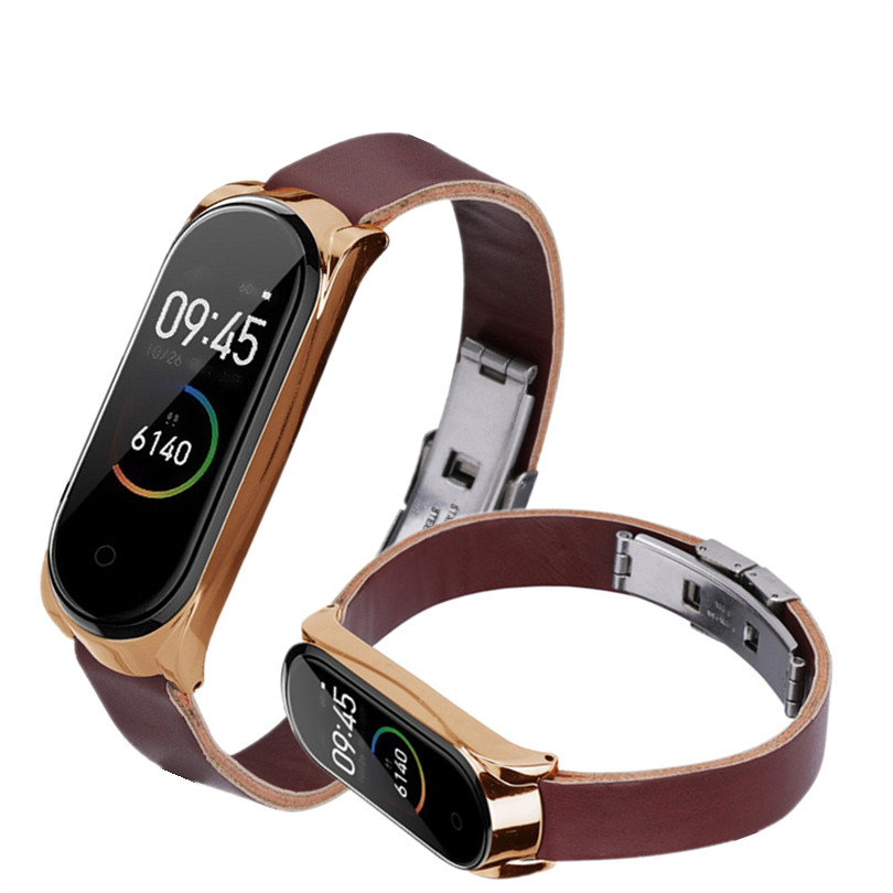 Bracelet Leather For Xiaomi Mi Band 3/4 Business Lightweight Sport Strap Smart Wrist Watch Band Strap Elegant Durable Fashion #4
