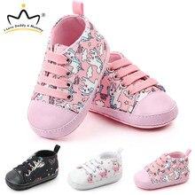 Śliczne jednorożec korona żyrafa dziecko buty trampki miękkie dno antypoślizgowe buty dla noworodka maluch Enfant chłopiec buty dziewczęce buciki