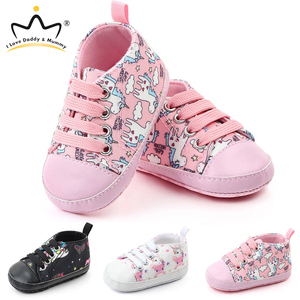 New Cute Unicorn Baby Shoes Sneakers Soft Bottom Anti Slip Children Toddler Shoes Baby Boy Girl Shoes Girls First Walkers(China)