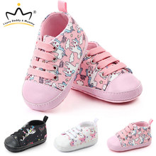 New Cute Unicorn Baby Shoes Soft Bottom Anti Slip Children Toddler Shoes Baby Boy Girl Shoes Girls First Walkers(China)