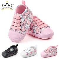Nuevas zapatillas para bebé Fondo suave de unicornio lindo antideslizante zapatos para niños pequeños zapatos para bebés y niñas Primeros pasos Primeros pasos     -