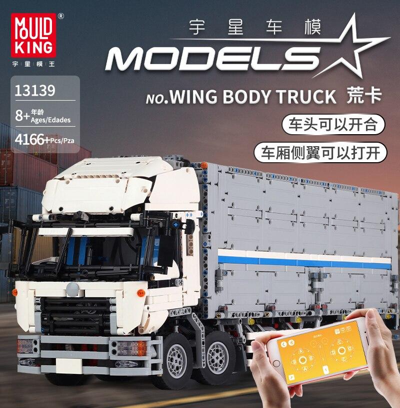 APP RC Technic Series Bricks MOC Arakawa Tow Wing Body Container Truck Set Compatible Lepining 23008 Model Toys Building Blocks