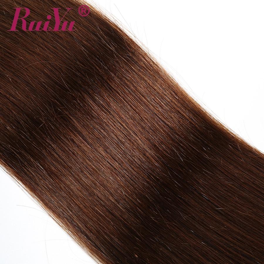 Ha1ba867cb55241d08ac9a93615c74dbb6 Human Hair Brown Bundles With Closure Brazilian Straight Hair Weave Bundles With Closure Middle Ration 10- 26 Inch NonRemy RUIYU