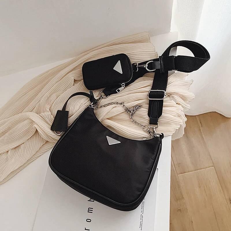 Women Crossbody Bag Fashion Casual Designer Baguette Mini Shoulder Bag Nylon Handbag Female For Shoulder Messenger Bag