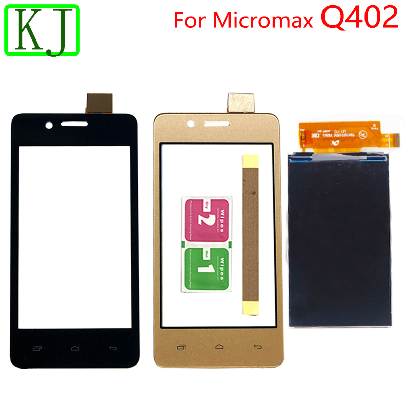 For <font><b>Micromax</b></font> <font><b>Q402</b></font> LCD Display <font><b>Touch</b></font> Screen Front Glass Digitizer Sensor Black gold for <font><b>q402</b></font> lcd <font><b>touch</b></font> image