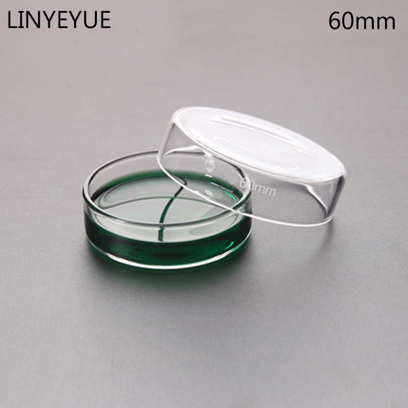 10 Pieces/pack 60mm Glass Petri Dish Bacterial Culture Dish Borosilicate Glass Chemistry Laboratory Equipment